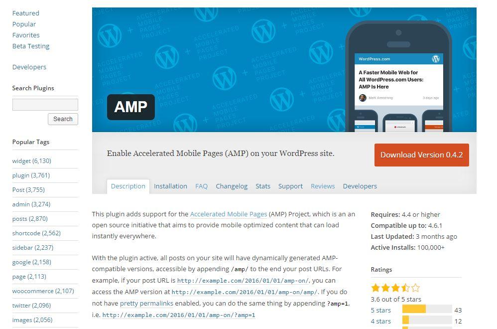 amp plugin directory