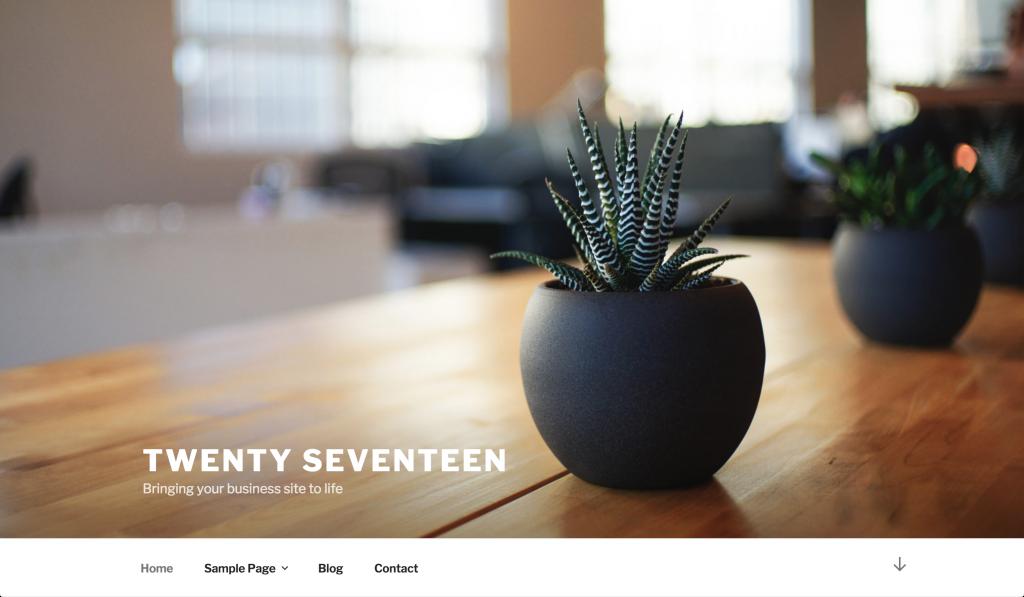 WordPress thema twenty seventeen