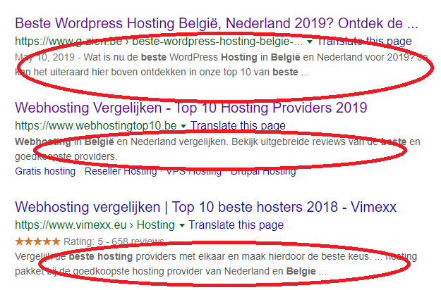 wat is een meta description